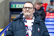 Bolton fan before the EFL Sky Bet League 1 match between Bolton Wanderers and Coventry City at the University of  Bolton Stadium, Bolton, England on 10 August 2019.