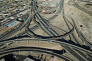 The Spaghetti Bowl is where U.S. 95 and 93 intersect with Interstate 15. Several multimillion-dollar lane-widening projects are scheduled for this stretch of highway, which, despite its size, is subject to heavy traffic every day.