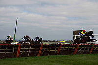 Grand National Meeting - Ladies' Day<br /> e.g. of caption:<br /> National Hunt Horse Racing - 2017 Randox Grand National Festival - Friday, Day Two [Ladies' Day]<br /> <br /> Winner Robbie Power on no 7 Pingshou  leaps the final fence in the lead in the Crabbie's Top Novices' Hurdle (Grade 1) (Class 1)2m 103y, Good<br /> 9 Runners at Aintree Racecourse.<br /> <br /> COLORSPORT/WINSTON BYNORTH