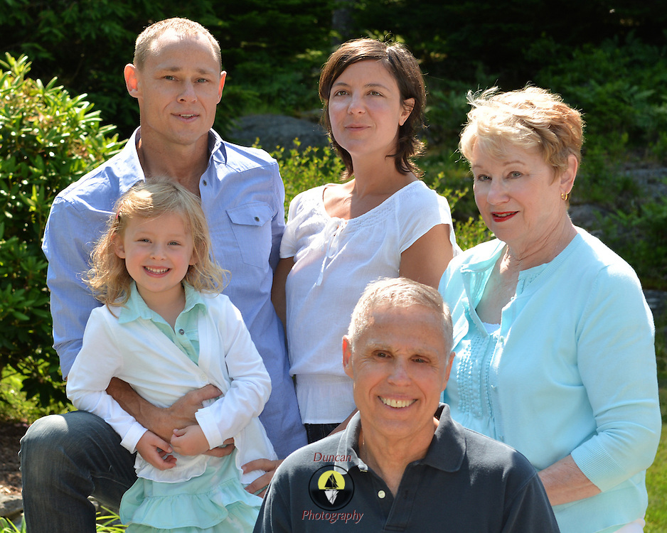 GEORGETOWN, Maine -- 6/30/14 -- Zike Family  portrait. DSC_2478<br /> Photo  &copy;2014 by Roger S. Duncan <br /> Released for all purposes to Zike Family