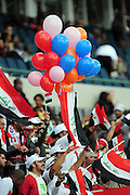Iraq Supporters  during the soccer match of the 2009 Confederations Cup between Spain and Iraq played at Vodacom Park,Bloemfontein,South Africa on 17 June 2009.  Photo: Gerhard Steenkamp/Superimage Media.