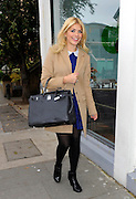 03.OCTOBER.2012. LONDON<br /> <br /> HOLLY WILLOUGHBY ARRIVING AT AT RIVERSIDE STUDIOS IN HAMMERSMITH TO FILM CELEBRITY JUICE.<br /> <br /> BYLINE: EDBIMAGEARCHIVE.CO.UK<br /> <br /> *THIS IMAGE IS STRICTLY FOR UK NEWSPAPERS AND MAGAZINES ONLY*<br /> *FOR WORLD WIDE SALES AND WEB USE PLEASE CONTACT EDBIMAGEARCHIVE - 0208 954 5968*