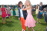 LADY VICTORIA HERVEY; ANDY WONG, Cartier International Polo. Smiths Lawn. Windsor. 24 July 2011. <br /> <br />  , -DO NOT ARCHIVE-© Copyright Photograph by Dafydd Jones. 248 Clapham Rd. London SW9 0PZ. Tel 0207 820 0771. www.dafjones.com.