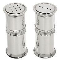 vera wang grosgain salt and pepper silver shakers