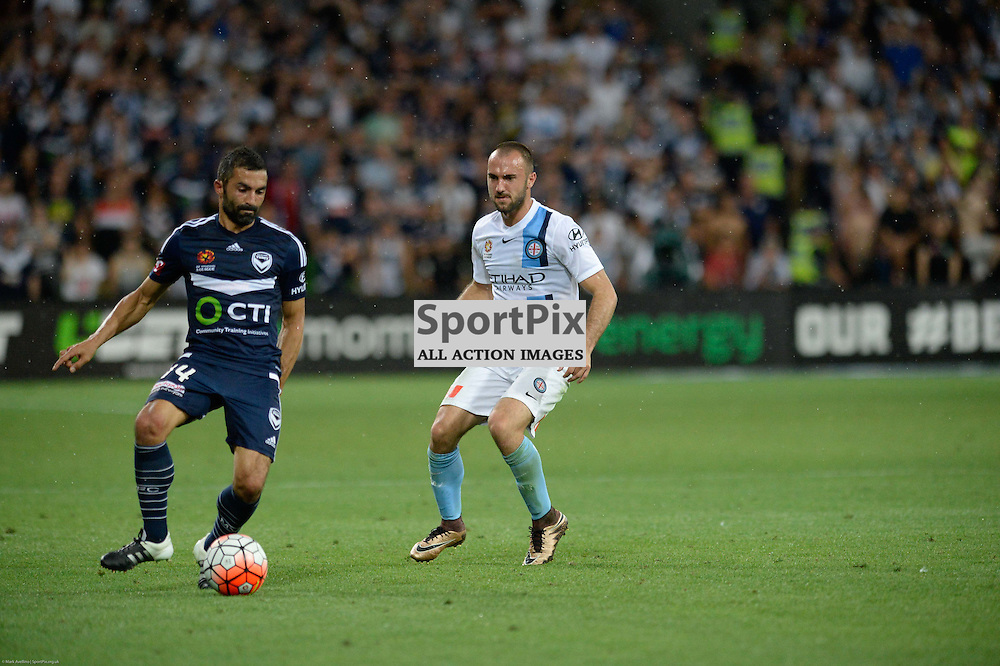 Fahid Ben Khalfallah of Melbourne Victory, Ivan Franjic of Melbourne City - Hyundai A-League, 19th December 2015, RD11 match between Melbourne City FC v Melbourne Victory FC at Aami Park in a 2:1 win to City in front of a 23,000+ crowd. Melbourne Australia. © Mark Avellino | SportPix.org.uk