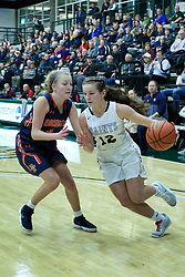 29 December 2018: SSG32 Championship game between the Bloomington Central Catholic Saints and the Rochester Rockets at the State Farm Holiday Classic Coed Basketball Tournament at Shirk Center, Bloomington Illinois