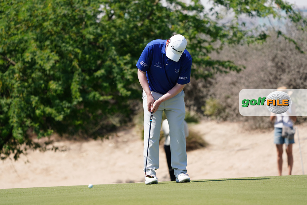 Robert Macintyre (SCO) on the 2nd during Round 2 of the Commercial Bank Qatar Masters 2020 at the Education City Golf Club, Doha, Qatar . 06/03/2020<br /> Picture: Golffile | Thos Caffrey<br /> <br /> <br /> All photo usage must carry mandatory copyright credit (© Golffile | Thos Caffrey)