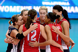 24-09-2014 ITA: World ChampionshipVolleyball Kazachstan - USA, Verona<br /> USA wint met 3-0 / Kimberly Hill