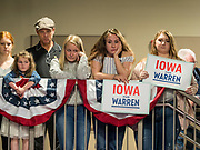 20 OCTOBER 2019 - INDIANOLA, IOWA: People wait for Sen Elizabeth Warren at Simpson College in Indianola, IA. Sen. Warren is campaigning to be the Democratic nominee for the US presidency in Iowa this week. Iowa traditionally hosts the the first selection event of the presidential election cycle. The Iowa Caucuses will be on Feb. 3, 2020.                 PHOTO BY JACK KURTZ