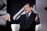 Jan 14th 2015 Rome,  the leader of Forza Italia party attends to meeting organized by Forza Silvio clubs. In the picture Silvio Berlusconi