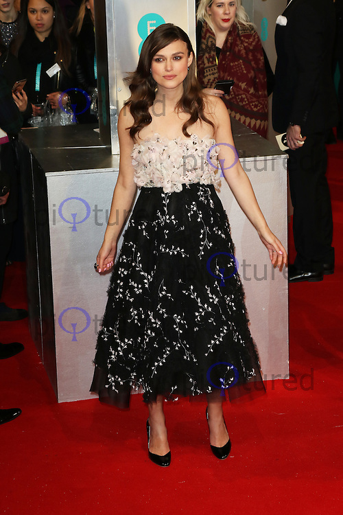 Keira Knightley, EE British Academy Film Awards (BAFTAs), Royal Opera House Covent Garden, London UK, 08 February 2015, Photo by Richard Goldschmidt