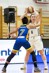 Annemarie Godri-Parau of Romania and Annamaria Prezelj of Slovenia during basketball match between National teams of Slovenia and Romania in 4. round of FIBA Women's EuroBasket 2019 Qualifiers, on February 14, 2018 in Dvorana Gimnazija Celje - Center, Slovenia. Photo by Urban Urbanc / Sportida