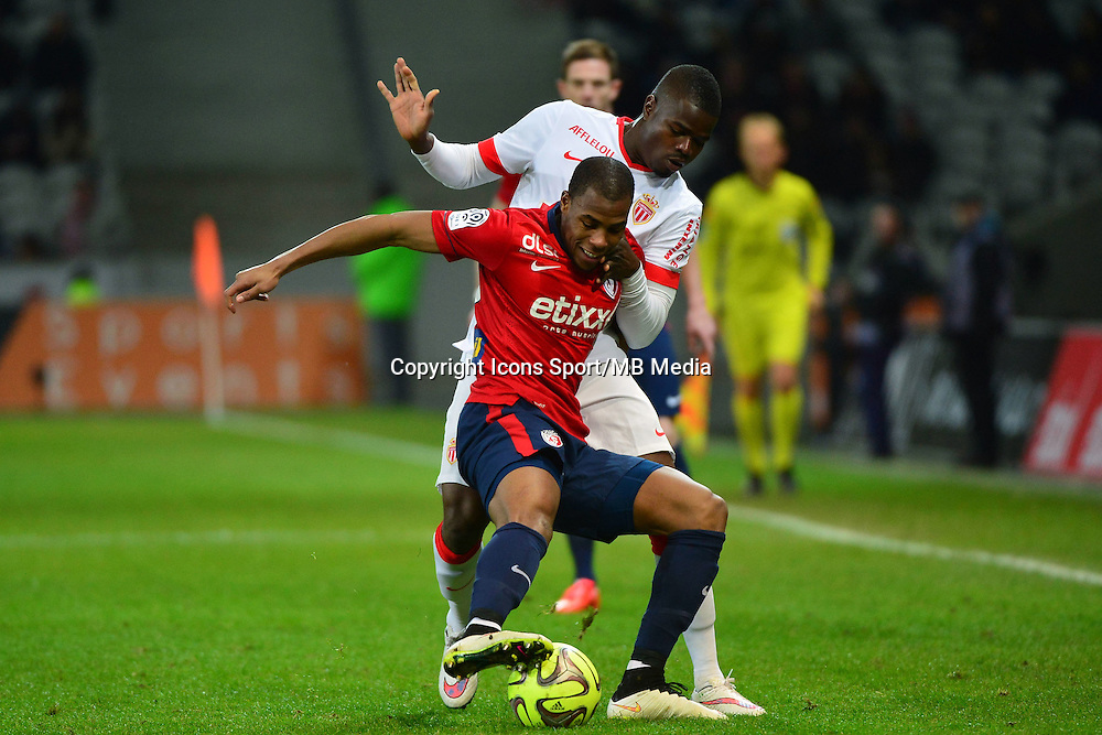 Djibril SIDIBE / Uwa Echiejile ELDERSON  - 24.01.2015 - Lille / Monaco - 22eme journee de Ligue1<br />