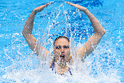 "May 10, 2019 - Saint Petersburg, Russia - The Russia team compete in the Duet Free Preliminary during of the European Artistic ""Synchronised"" Swimming Champions Cup 2019 on May 10, 2019, in St.Petersburg, Russia  (Credit Image: © Igor Russak/NurPhoto via ZUMA Press)"