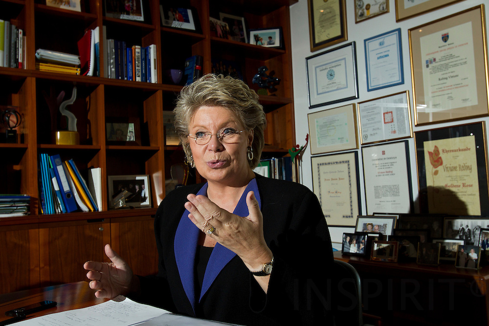 Interview with Viviane Reding, Vice-President for the European Commission and commissioner for Justice, Fundamental Rights and Citizenship. PHOTO: ERIK LUNTANG / INSPIRIT Photo