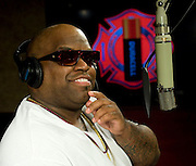 "Cee Lo Green pays tribute to volunteer firefighters with his recording of ""Thank You,"" an anthem for Duracell's Power Those Who Protect Us program, in West Hollywood, Calif.  When consumers purchase specially marked coppertop packs, Duracell will make a battery donation to volunteer fire departments to power communication devices and life saving equipment. Photo/Duracell, Susan Goldman."