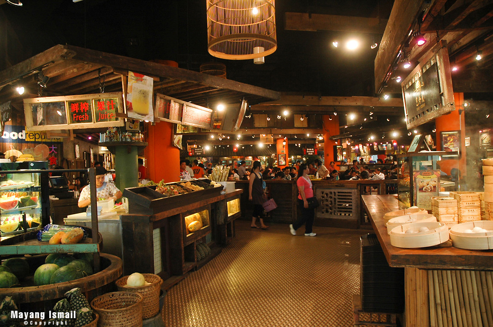 Food court in Vivo City, a shopping mall in Singapore