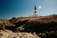 Lighthouse Creac'h on Ouessant Island, the most powerful french lighthouse..for article by Steven Erlanger on the state of lmighthouses in France..Photo by Owen Franken for the NY Times..April 8, 2008