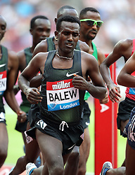 Bahrain's Birhanu Balew in action during the Men's 5000m during day one of the Muller Anniversary Games at The Queen Elizabeth Stadium, London.