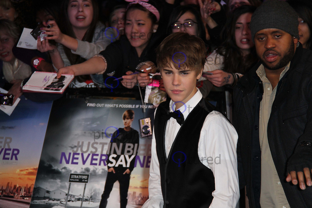 Justin Bieber: Never Say Never European Premiere, O2 Cineworld, London, UK, 16 February 2011: Contact: Ian@Piqtured.com +44(0)791 626 2580 (Picture by Richard Goldschmidt)