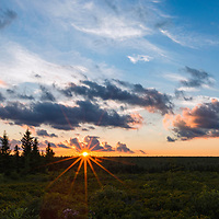 Beautiful sunset at Dolly Sods Wilderness, West Virginia