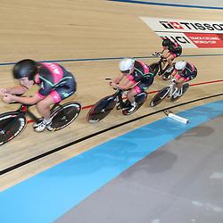 06-11-2016: Wielrennen: NK Teamsprint en Ploegenachtervolging : Apeldoorn  APELDOORN (NED) wielrennen  In het Omnisportcentrum in Apeldoorn werd gestreden om de nationale titels op de ploegenachtervolging en teamsprint. Team BeetIt met Amber van der Hulst, Bente van Teesseling, Marit Raaijmakers, Mylene de Zoete