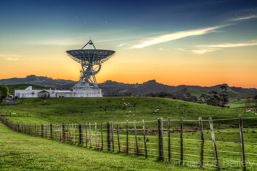 Satellite station Warkworth , North Island New Zealand