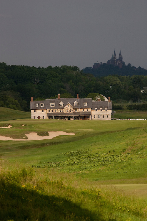Erin Hills Golf Course 18th hole provides a view of the
