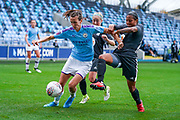 Manchester City Women midfielder Jill Scott (8) in action during the FA Women's Super League match between Manchester City Women and BIrmingham City Women at the Sport City Academy Stadium, Manchester, United Kingdom on 12 October 2019.