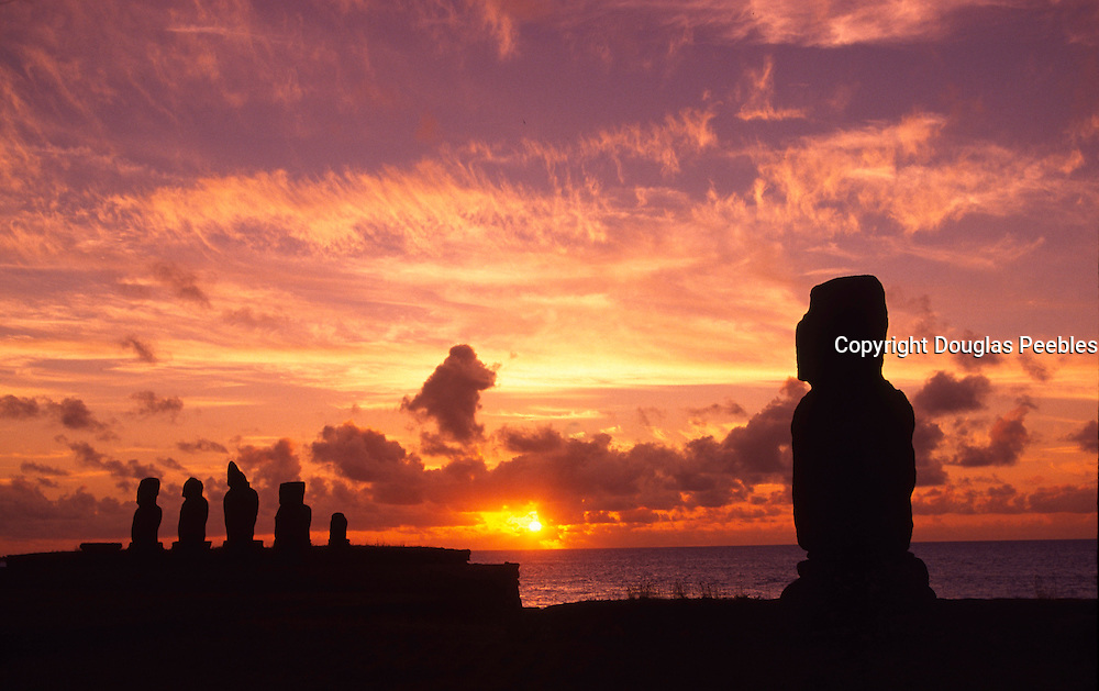 Sunset, Easter Island, Chile<br />