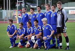 Team Finland before the Qualifications for UEFA U-21 EC 2009 soccer match between Slovenia and Finland at Velenje stadion At lake, on September 9,2008, in Velenje, Slovenia.  (Photo by Vid Ponikvar / Sportal Images)