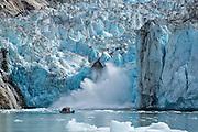 Watching the Dawes Glacier calve, Endicott Arm, Alaska.