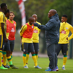 DURBAN, SOUTH AFRICA, Sunday 15 November 2015 -Shakes Mashaba during the South African Football (Bafana Bafana) team training session at the People's Park, Moses Mabhida Stadium, Durban, South Africa. (Photo by Steve Haag)<br />
