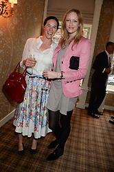 Left to right, CLAIRE JAMES and JADE PARFITT at the Blue Monday Cheese Launch presented by Alex James and held at The Cadogan Hotel, Sloane street, London on 11th June 2013.