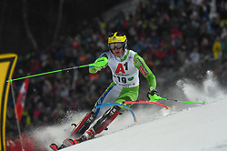 "29.01.2019, Planai, Schladming, AUT, FIS Weltcup Ski Alpin, Slalom, Herren, 1. Lauf, im Bild Stefan Hadalin (SLO) // Stefan Hadalin of Slovenia in action during his 1st run of men's Slalom ""the Nightrace"" of FIS ski alpine world cup at the Planai in Schladming, Austria on 2019/01/29. EXPA Pictures © 2019, PhotoCredit: EXPA/ Erich Spiess"