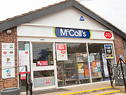 McColl's newsagent convenience store shop and Post Office, Hollesley, Suffolk, England, UK