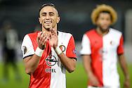 20-10-2016: Voetbal: Feyenoord v Zarja Loegansk: Rotterdam<br /> <br /> (L-R) Bilal Basacikoglu (feyenoord) during Europa League match between Feyenoord and Zorja Luhansk on 20 oktober 2016 at Stadion Feijenoord (de Kuip), Rotterdam, Zuid-Holland<br /> <br /> Europa League - Season 2016 / 2017<br /> <br /> Photo: Gertjan Kooij