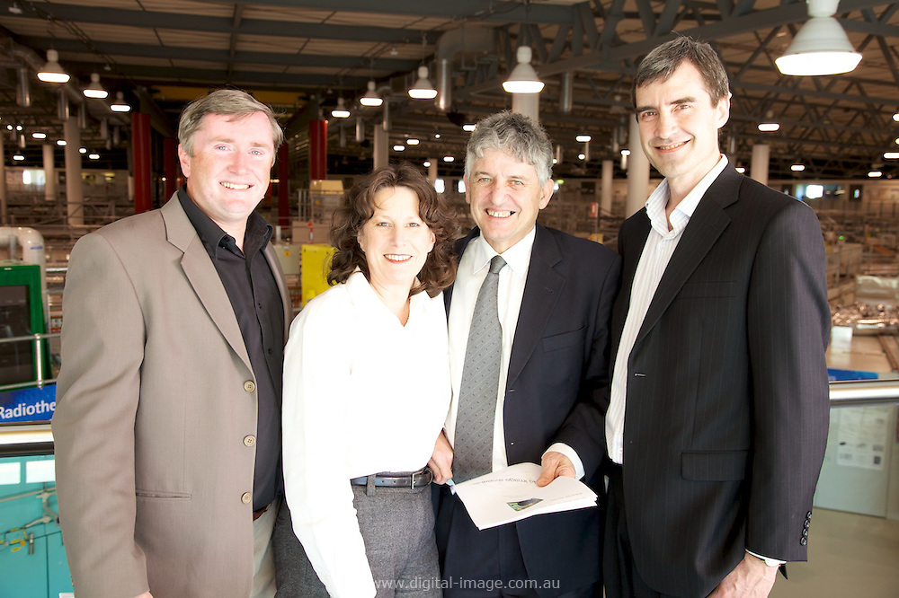 Australian Synchrotron Leadership Group, L-R, Dr Dean Morris, Juliann Byron, Dr George Borg, Prof Ian Gentle.