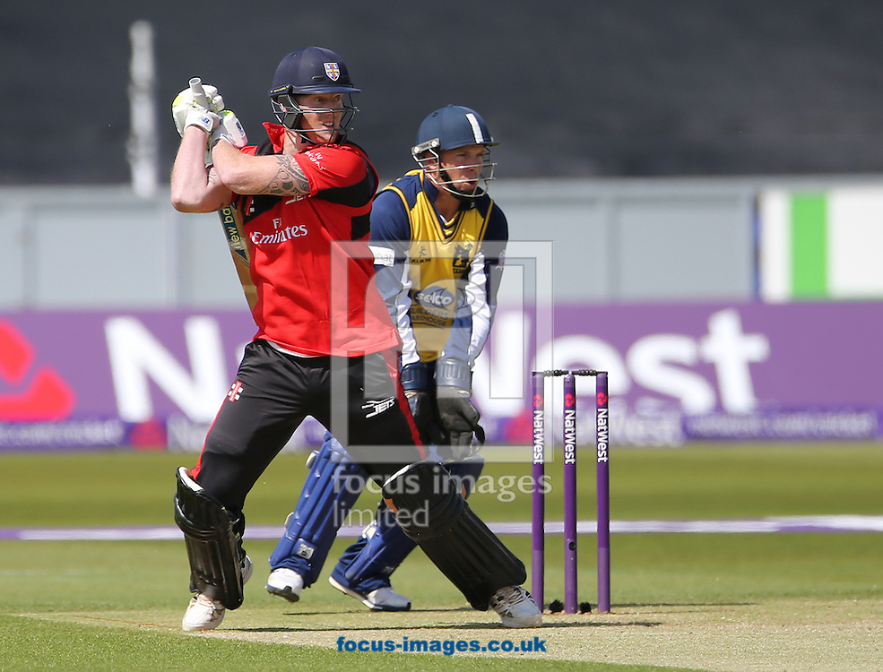 Ben Stokes (l) of Durham Jets batting during the Natwest T20 Blast match at Emirates Durham ICG, Chester-le-Street<br /> Picture by Simon Moore/Focus Images Ltd 07807 671782<br /> 06/06/2015