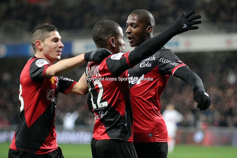 JOIE Claudio BEAUVUE / Younousse SANKHARE / Jeremy PIED   - 24.01.2015 - Guingamp / Lorient - 22eme journee de Ligue1<br />Photo : Vincent Michel / Icon Sport *** Local Caption ***