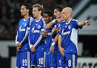 FUSSBALL   1. BUNDESLIGA   SAISON 2008/2009   12. SPIELTAG FC Schalke 04 - FC Bayern Muenchen         09.11.2008 Kevin KURANYI, Ivan RAKITIC, Jefferson FARFAN, Halil ALTINTOP und Fabien ERNST (v.l., alle Schalke)