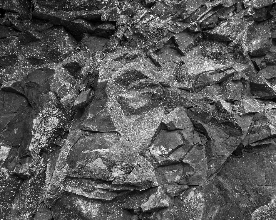 Rock wall detail, high above the upper Dungeness River.