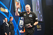 Raymond van Barneveld after his Q/F victory over Michael Smith during the World Darts Championship at Alexandra Palace, London, United Kingdom on 1st January 2016. Photo by Shane Healey.