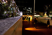 Tokyo people walking at night by Tamachi station Shibaura district