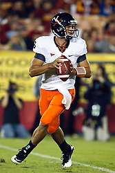September 11, 2010; Los Angeles, CA, USA;  Virginia Cavaliers quarterback Marc Verica (6) during the third quarter against the Southern California Trojans at the Los Angeles Memorial Coliseum.  USC defeated Virginia 17-14.