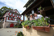 "Restaurant Ochsen zu Diefenbach. Owner Georg ""Schorsch"" Barta and his wife Petra."