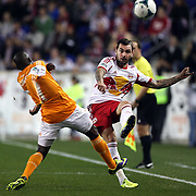 Jonny Steele, New York Red Bulls, in action during the New York Red Bulls V Houston Dynamo , Major League Soccer second leg of the Eastern Conference Semifinals match at Red Bull Arena, Harrison, New Jersey. USA. 6th November 2013. Photo Tim Clayton