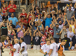 June 16, 2018 - Houston, Texas, US - Fan cheer the try during the Emirates Summer Series 2018 match between USA Men's Team vs Scotland Men's Team at BBVA Compass Stadium, Houston, Texas (Credit Image: © Maria Lysaker via ZUMA Wire)