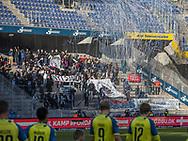 FODBOLD: FC Helsingør fans skabte en festlig ramme om  kampen i ALKA Superligaen mellem Brøndby IF og FC Helsingør den 25. februar 2018 på Brøndby Stadion. Foto: Claus Birch.