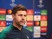 Mauricio Pochettino during the Tottenham Hotspur Press Conference at Signal Iduna Park, Dortmund, Germany on 4 March 2019.